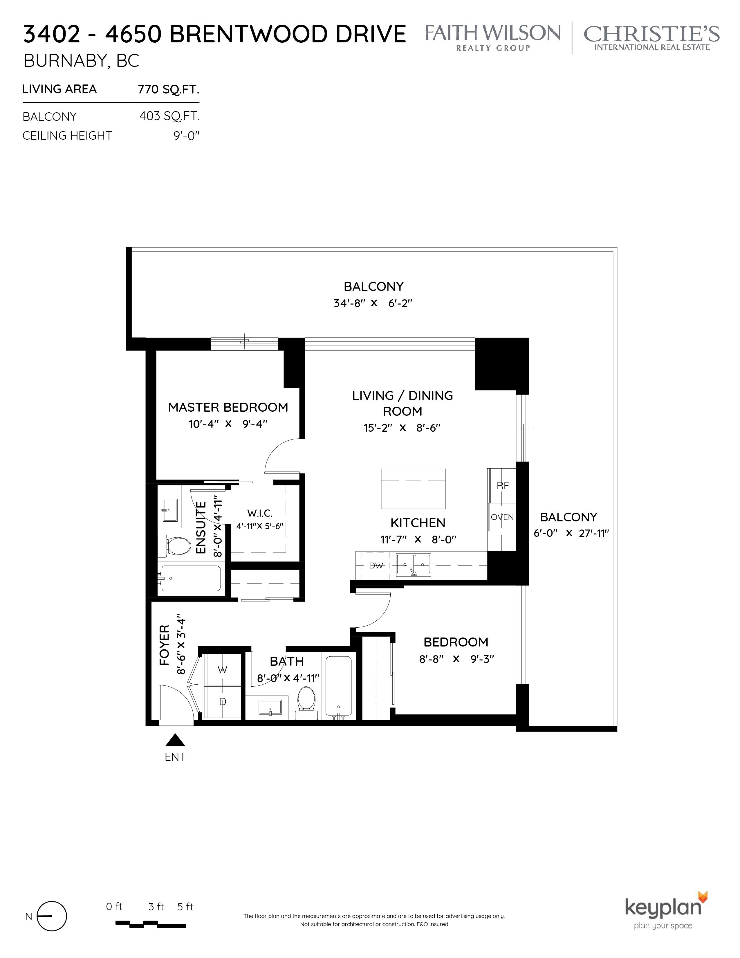 Unit 3402 4650 Brentwood Drive By Faith Wilson Group Onikon Creative Inc Floorplan