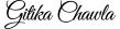 Gitika Chawla - Branding Logo